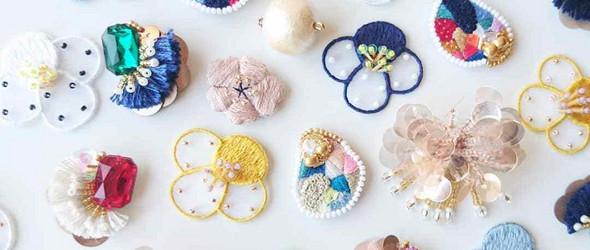 清新闪亮的刺绣饰品 | Oto Masako