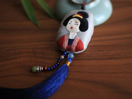 花暖 原创设计 手工刺绣配饰 仕女项链 毛衣长链中国风礼物 和