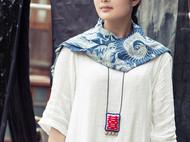 HIWANG 『双喜』棉麻刺绣订婚结婚新婚礼物民族风俗项链