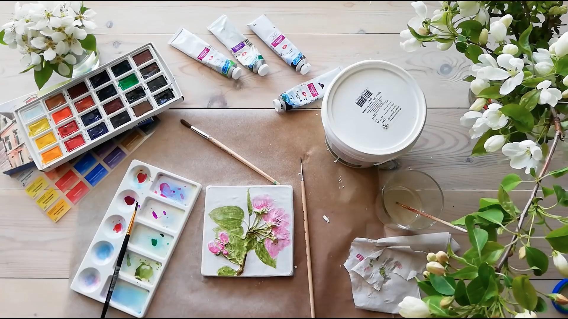 石膏植物拓印画 | 留住花朵的印记,石膏花(Plaster flowers)制作教程