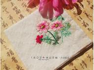 手工刺绣手帕·大波斯菊