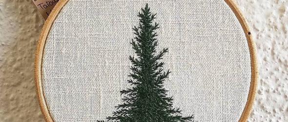 Delphil Brodeuse:刺绣树木