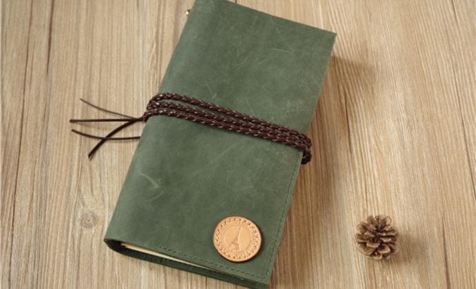去旅行吧!墨绿色疯马牛皮 TN旅行日记本