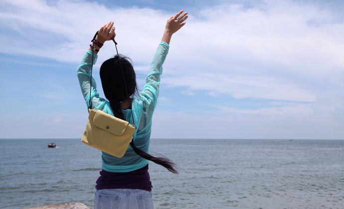 手作小包与大海的约定