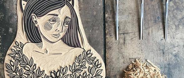 雕版印刷 | 设计师 Emily Louise Howard 的麻胶板雕刻艺术