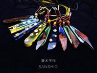 善术SANSHIO特价款包邮文艺范木吊坠情侣款毛衣链极简原创设计创意项链包邮