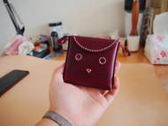 送你一个小可爱~手染红棕零钱包