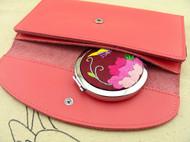 原创 纯手工刺绣随身带便携式折叠镜双面用镜子化妆镜小镜子
