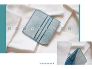 5000TIMES'手工皮具-片叶系列 钱包 卡包 意大利擦蜡植鞣牛皮 蓝