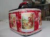非常喜爱的法语小红帽连环画手做拼布包包~系列2