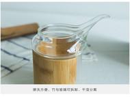 梵瀚 茶具配件 公道杯 玻璃加厚耐热 分茶器竹木创意日本功夫茶海
