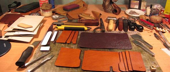 手工皮革制作教程之 鲨鱼皮短款钱夹制作步骤和制作教程