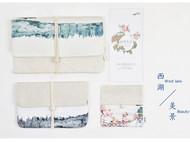 川朴原创艺术设计写意西湖美景系列手拿包