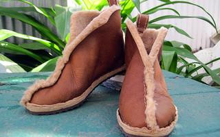 #手工鞋# diy手工制作雪地靴教程,diy毛绒家居鞋/保暖鞋制作教程
