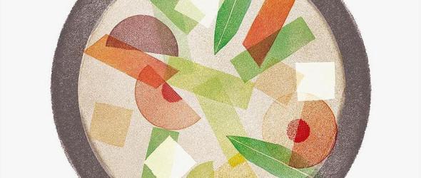 别具一格的橡皮章插画 | 艺术家 Fatto Ameno 清新自然的橡皮章版画