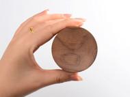 live design意物设计胡桃木首饰盒戒指饰品盒木质生日礼物创意韩国便携迷你简约小木盒