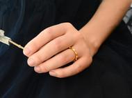 初独立首饰 原创设计 个性朋克风 纯银氧化黑|铜镀金 男|女尾戒 铆钉戒指