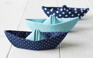 西餐摆盘艺术之折叠小船餐巾布diy教程