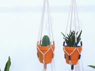 P&Z macrame手工编织吊兰花盆 家居民宿悬挂装饰用 极简风