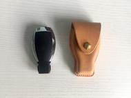 原创手工原色植鞣革头层牛皮革塑型真皮简约复古奔驰汽车钥匙包