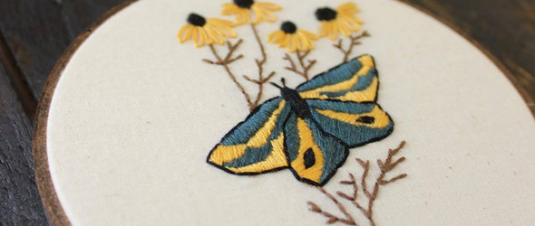 以线条勾勒的小风景:Modern Fiber Art 的刺绣作品