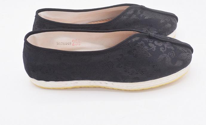 手工男女鞋 老北京千层底缎面龙纹布鞋