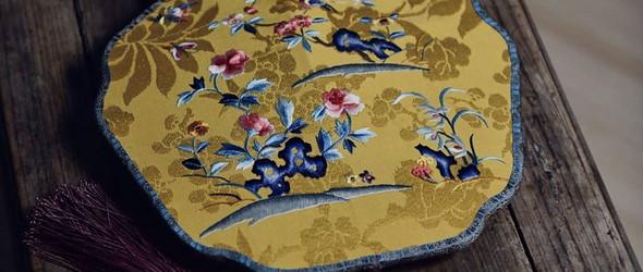 中国传统刺绣与团扇