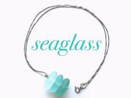 天然海玻璃手工项链