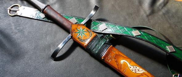 精美绝伦的欧洲复古宝剑和剑鞘:美国DBK定制宝剑工作室与匠人 Brian Kunz