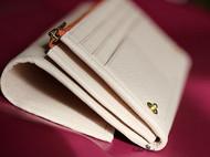 【轻-净】纯手缝浅白粉鹿皮手拿钱夹