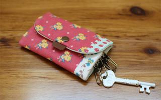 diy布艺教程:详细的印花布钥匙包图解教程
