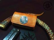 骄阳手工皮具雷神指尖陀螺 美国成人EDC 雷神定制版指尖陀螺 皮套定制