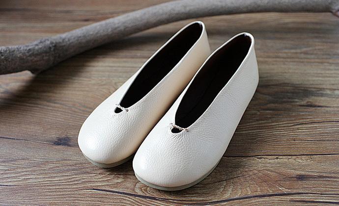 守根手工鞋铺 手工真皮禅意套脚单鞋