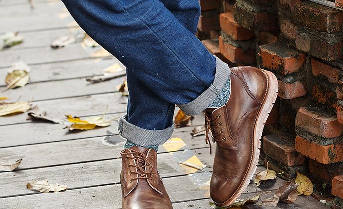英伦复古男系带厚底头层牛皮男士休闲皮鞋