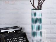 艺术玻璃插花花器装饰品现代简约创意餐桌富贵竹花瓶条纹家居摆件