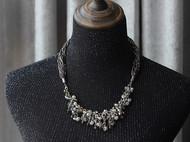 【LXB私人设计】重工不规则串珠水晶项链