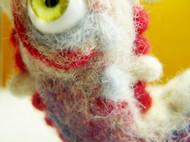 原创羊毛毡玩偶—搁浅的独眼鱼
