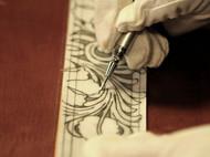 精致低调奢华的手工皮雕复古腰带