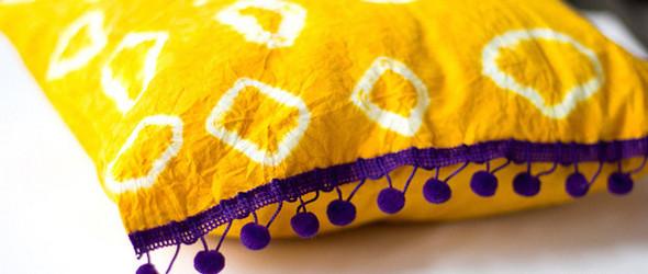 草木染教程 - 使用姜黄粉,以最自然的染色方式染出漂亮的枕头套教程