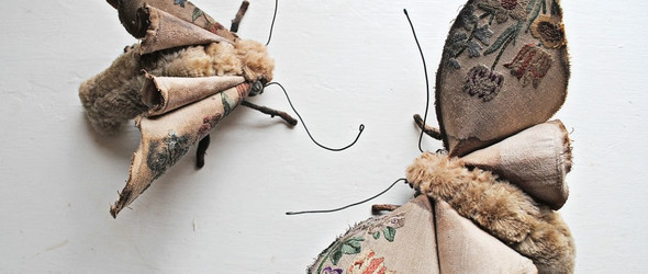 自学成才的艺术家Mr. Finch用复古的纺织材料制作的动植物玩偶