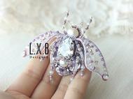【LXB私人设计】法式刺绣 立体珠绣 毛衣大衣锆石 昆虫胸针 现货