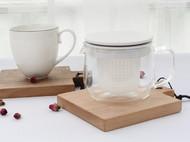 木说 黑胡桃木榉木实木创意隔热垫加厚厨房餐桌防烫垫碗垫盘垫