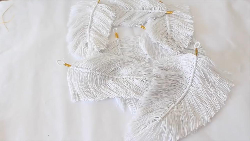 编织网红羽毛装饰相框DIY教程
