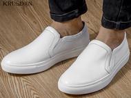 批发2016秋季男鞋真皮低帮鞋平底英伦一脚蹬套脚休闲板鞋小白鞋潮