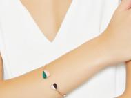 CAMBAS刊芭思 玫瑰金色桃心开口手镯女 法式轻奢设计纯银手饰品