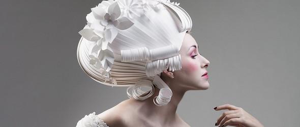 当代纸雕与传统配饰的相互成就   俄罗斯艺术家 Asya Kozina 精美绝伦的纸雕服饰