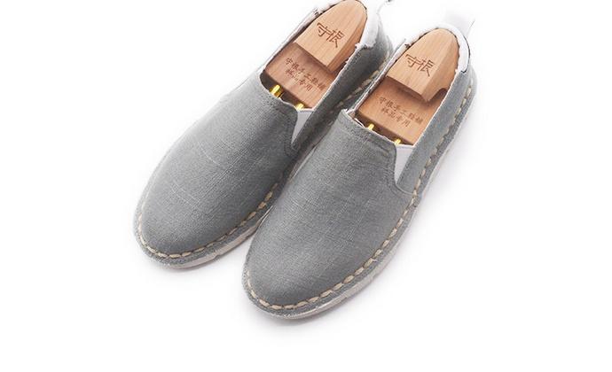 手工男鞋 软底棉麻舒适套脚懒人一脚蹬休闲鞋