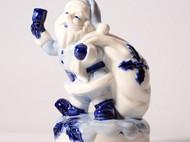 青花瓷圣诞老人八音盒 新年圣诞礼物 女朋友 日式可爱 日本直邮 精致和风 陶瓷装饰