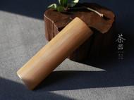 柒言原创-手工可定制-百年老玉竹-素面茶则老料新做-手感温润如玉