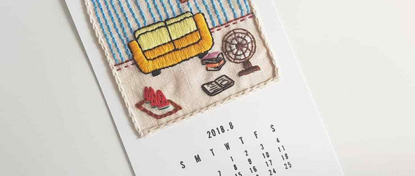 清新和可爱,便已足够 | 韩国刺绣达人 mirinaeato 的刺绣卡片